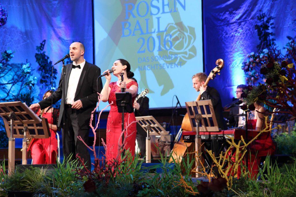 Band Sunny Side auf dem Rosenball in Bad Kissingen