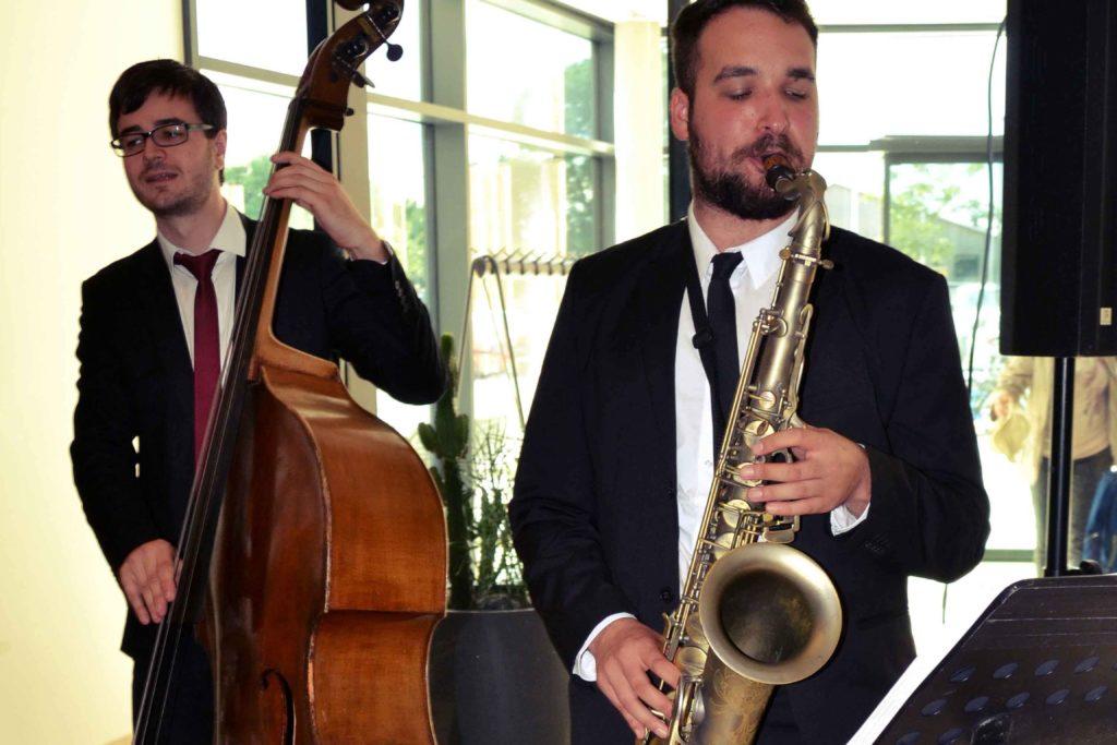 Band für Hochzeit, Firmenevent, Saxophon, Kontrabass, Hotel Melchior Park Würzburg