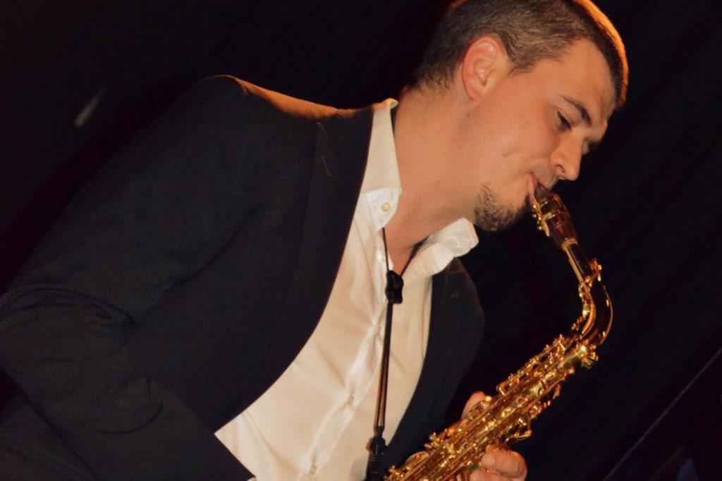 Saxophon, Firmenevent Zippe